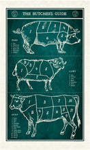 Load image into Gallery viewer, Butcher's Guide Tea Towel, Cavallini & Co.