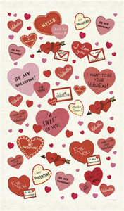 Valentine Hearts Tea Towel, Cavallini & Co.