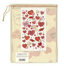 Load image into Gallery viewer, Valentine Hearts Tea Towel, Cavallini & Co.
