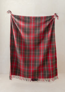 Dark Maple Tartan Throw, Tartan Blanket Co.