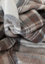 Load image into Gallery viewer, Recycled Wool Blanket in Stewart Natural Dress Tartan, Tartan Blanket