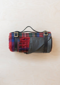 Recycled Wool Waterproof Picnic Blanket in Stewart Royal Tartan, Tartan Blanket
