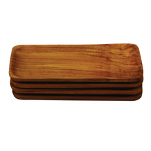 Load image into Gallery viewer, Teak Rectangular Trays