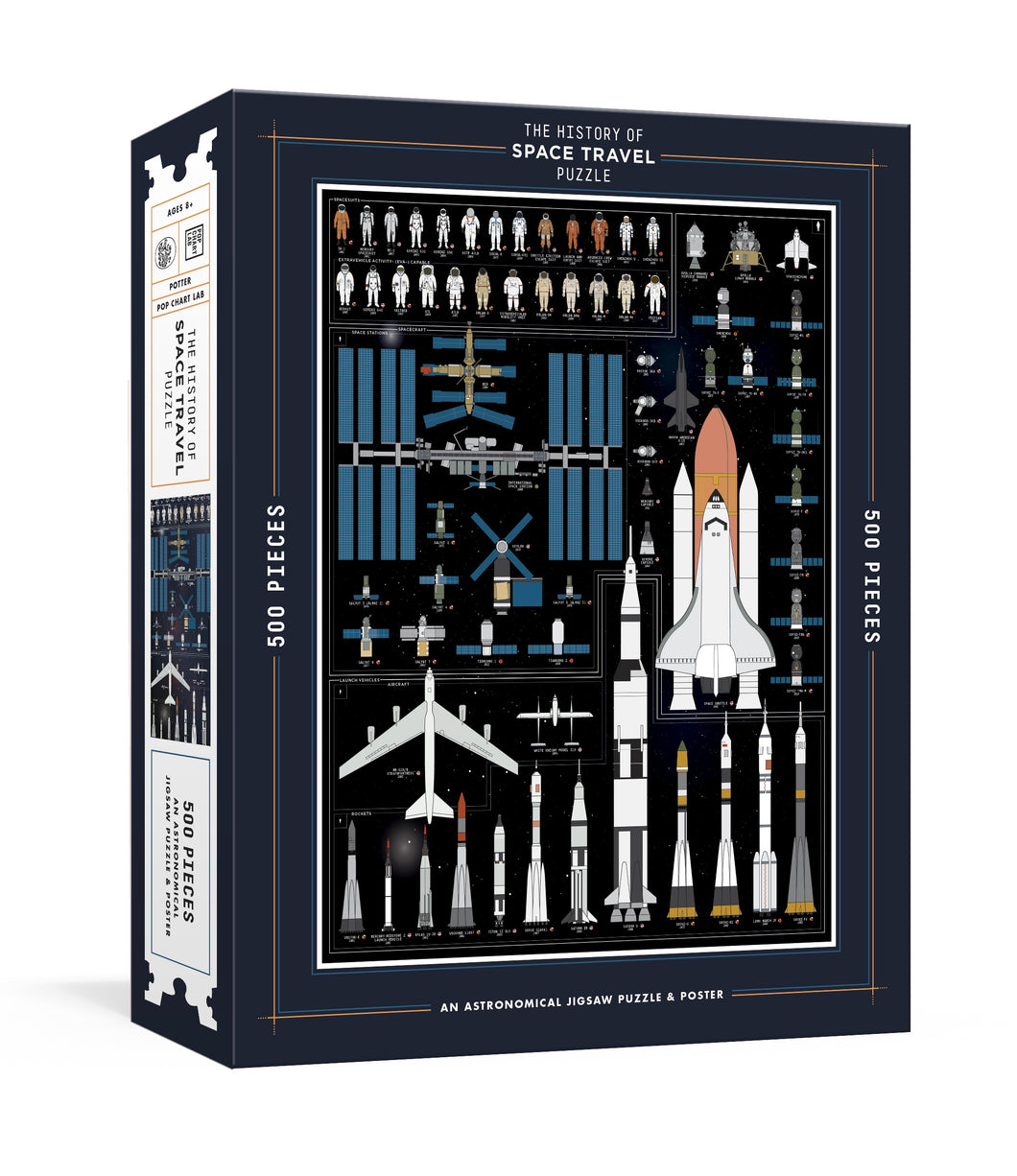 The History of Space Travel Puzzle + Poster