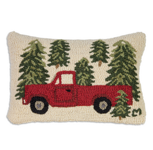 Truck in The Trees Pillow