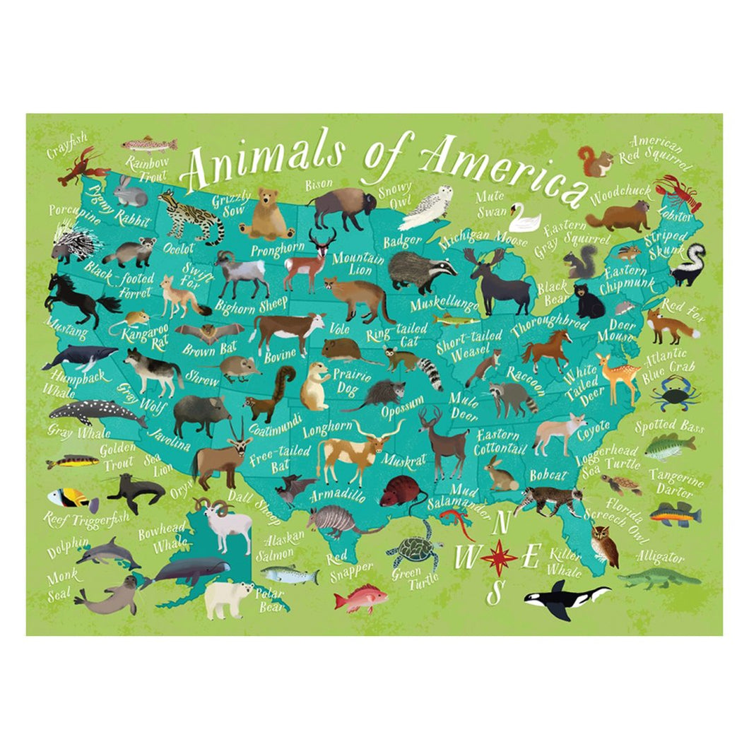 Animals of America Puzzle, True South