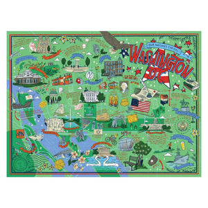 Washington DC Puzzle, True South