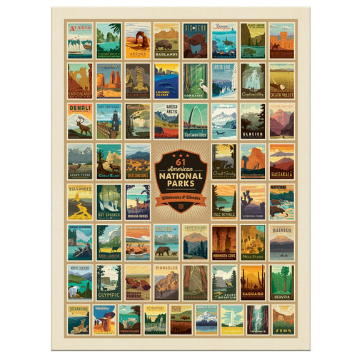 National Parks Puzzle, True South