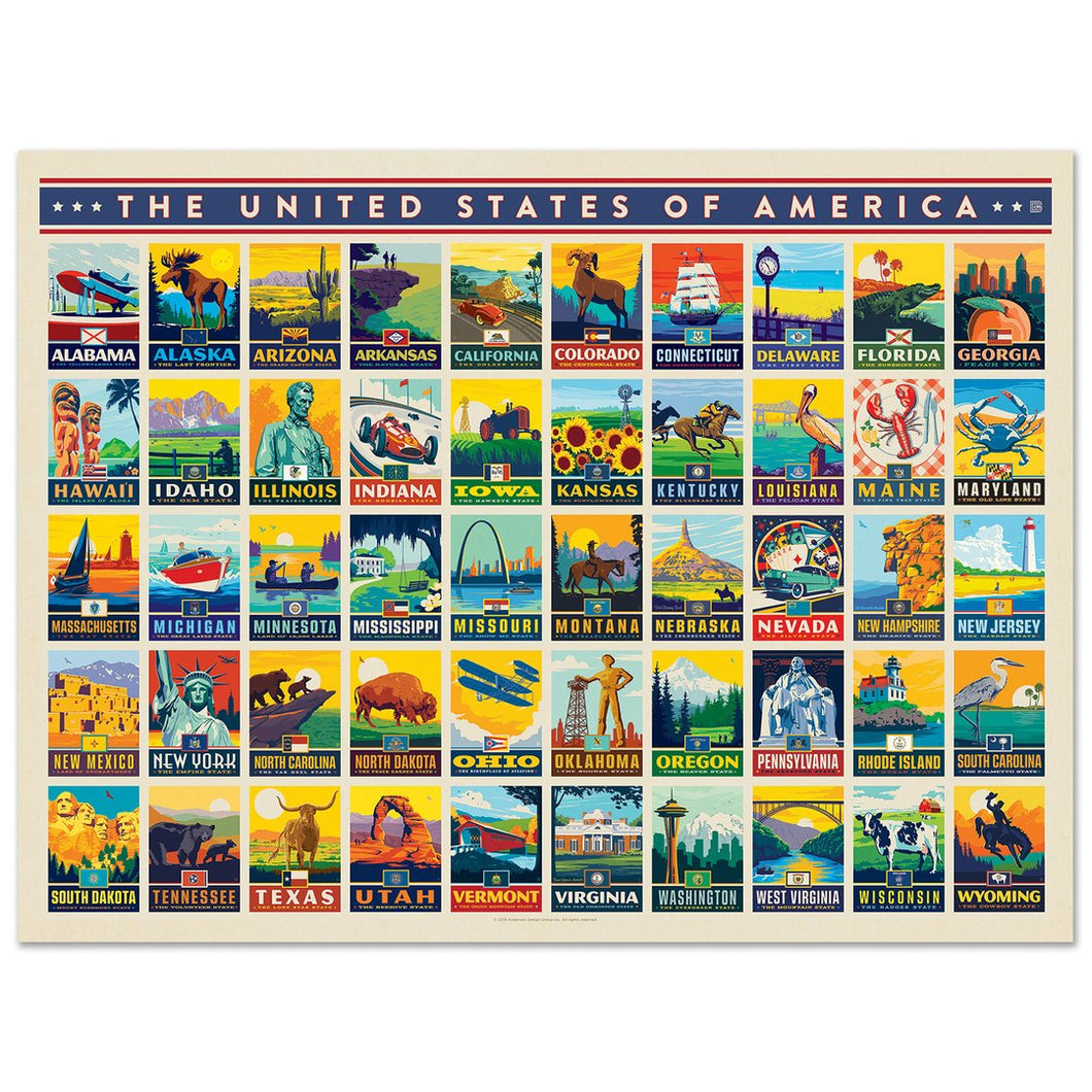 American States Puzzle, True South