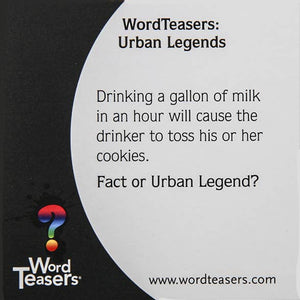 Urban Legends, Word Teasers