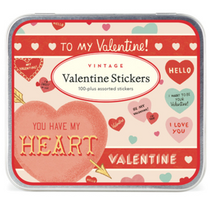 Valentine Hearts Stickers, Cavallini & Co