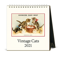 Load image into Gallery viewer, 2021 Vintage Cats Desk Calendar, Cavallini & Co.
