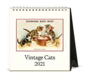 2021 Vintage Cats Desk Calendar, Cavallini & Co.