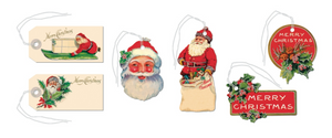 Vintage Christmas Santa Gift Tags, Cavallini & Co.