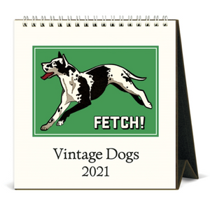 2021 Vintage Dogs Desk Calendar, Cavallini & Co.