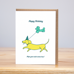 Weiner Dog Birthday, Huckleberry Letterpress