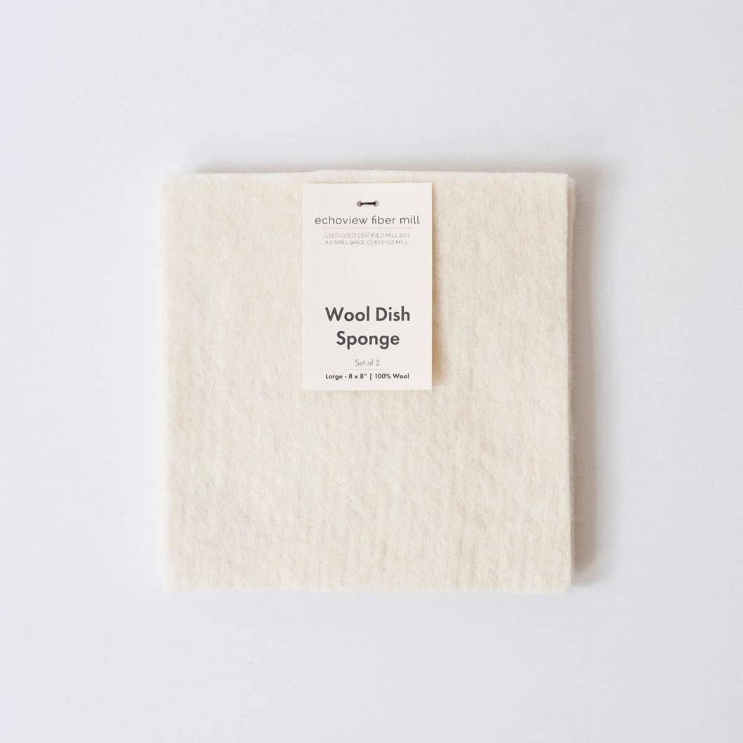 Wool Dish Sponge Set
