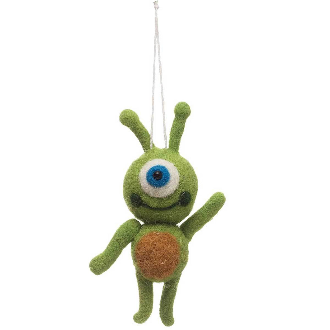 Felt Alien Ornament