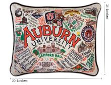 Load image into Gallery viewer, Auburn University, Catstudio Collegiate Embroidered Pillow