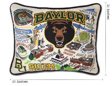Load image into Gallery viewer, Baylor University, Catstudio Collegiate Embroidered Pillow
