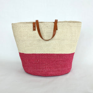 Large Colorblock Sisal Tote