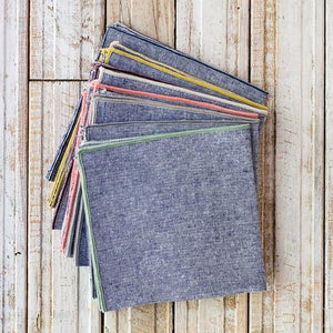Chambray Cocktail Napkins, set of 8