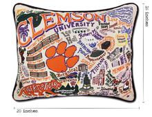 Load image into Gallery viewer, Clemson University, Catstudio Collegiate Embroidered Pillow