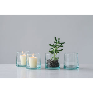 Hand Blown Glass Tea Light Holder