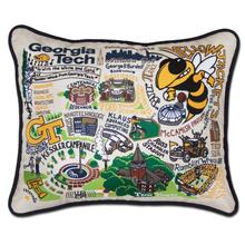 Load image into Gallery viewer, Georgia Tech, Catstudio Collegiate Embroidered Pillow