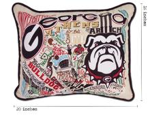 Load image into Gallery viewer, University of Georgia, Catstudio Collegiate Embroidered Pillow