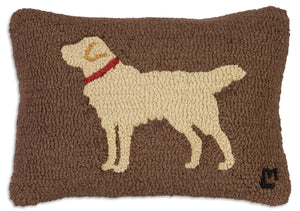 Golden Retriever on Brown Pillow