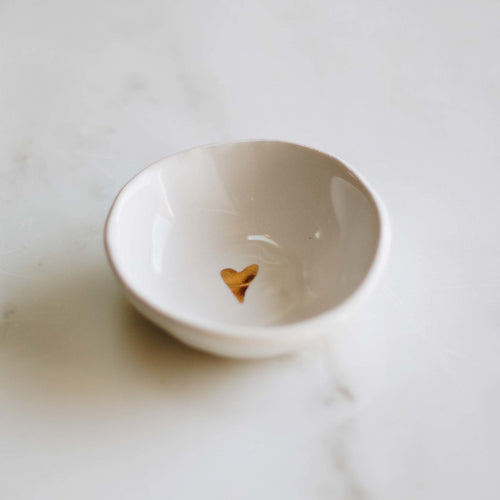 Gold Heart Ring Bowl
