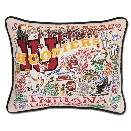 Indiana University Embroidered Pillow