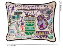 Load image into Gallery viewer, James Madison University, Catstudio Collegiate Embroidered Pillow