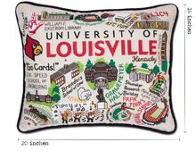 University of Louisville, Catstudio Collegiate Embroidered Pillow