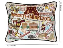 Load image into Gallery viewer, University of Minnesota, Catstudio Collegiate Embroidered Pillow