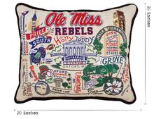 Load image into Gallery viewer, University of Mississippi, Catstudio Collegiate Embroidered Pillow
