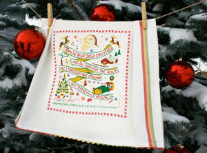 Night Before Christmas Dish Towel