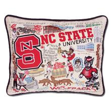 North Carolina State University, Catstudio Collegiate Embroidered Pillow