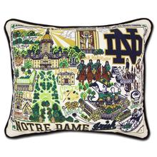 Load image into Gallery viewer, University of Notre Dame, Catstudio Collegiate Embroidered Pillow