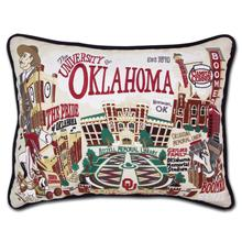 Load image into Gallery viewer, University of Oklahoma, Catstudio Collegiate Embroidered Pillow