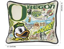 Load image into Gallery viewer, University of Oregon, Catstudio Collegiate Embroidered Pillow
