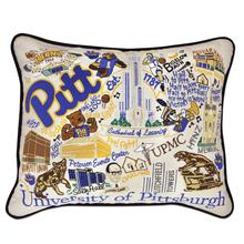 Load image into Gallery viewer, University of Pittsburgh, Catstudio Collegiate Embroidered Pillow