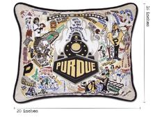 Load image into Gallery viewer, Purdue University, Catstudio Collegiate Embroidered Pillow