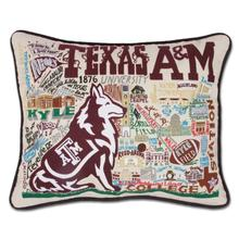 Load image into Gallery viewer, Texas A&M University, Catstudio Collegiate Embroidered Pillow