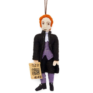 Thomas Jefferson Handmade Felt Ornament