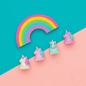 Unique Unicorn Strawberry Scented Erasers, Ooly