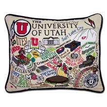 Load image into Gallery viewer, University of Utah, Catstudio Collegiate Embroidered Pillow