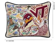Load image into Gallery viewer, Virginia Tech, Catstudio Collegiate Embroidered Pillow