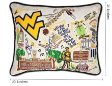 Load image into Gallery viewer, West Virginia University, Catstudio Collegiate Embroidered Pillow